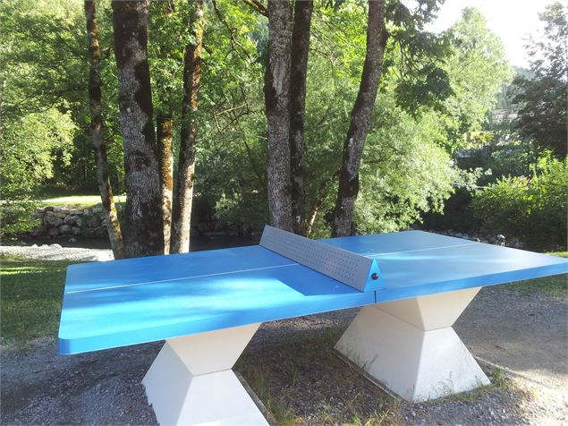 Table de ping-pong au Grand-Bornand - © csardin - OT Le Grand-Bornand